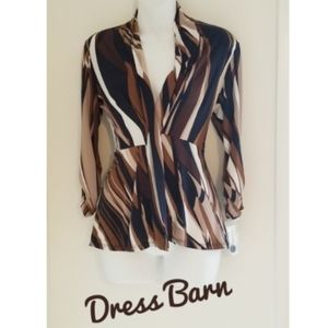 Dressbarn NWT Open Front Cardigan Style Blouse